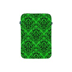 Damask1 Black Marble & Green Colored Pencil (r) Apple Ipad Mini Protective Soft Cases by trendistuff
