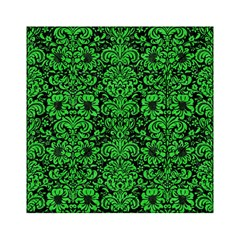 Damask2 Black Marble & Green Colored Pencil Acrylic Tangram Puzzle (6  X 6 ) by trendistuff