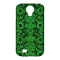 Damask2 Black Marble & Green Colored Pencil Samsung Galaxy S4 Classic Hardshell Case (pc+silicone) by trendistuff