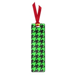 Houndstooth1 Black Marble & Green Colored Pencil Small Book Marks by trendistuff