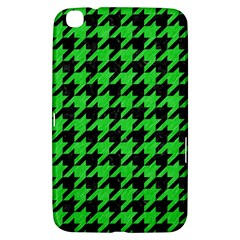 Houndstooth1 Black Marble & Green Colored Pencil Samsung Galaxy Tab 3 (8 ) T3100 Hardshell Case  by trendistuff