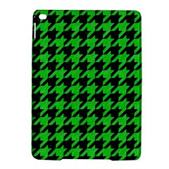 Houndstooth1 Black Marble & Green Colored Pencil Ipad Air 2 Hardshell Cases by trendistuff