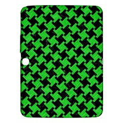Houndstooth2 Black Marble & Green Colored Pencil Samsung Galaxy Tab 3 (10 1 ) P5200 Hardshell Case  by trendistuff