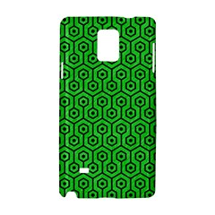 Hexagon1 Black Marble & Green Colored Pencil (r) Samsung Galaxy Note 4 Hardshell Case by trendistuff