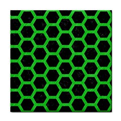Hexagon2 Black Marble & Green Colored Pencil Face Towel by trendistuff