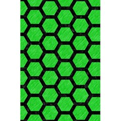 Hexagon2 Black Marble & Green Colored Pencil (r) 5 5  X 8 5  Notebooks