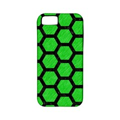 Hexagon2 Black Marble & Green Colored Pencil (r) Apple Iphone 5 Classic Hardshell Case (pc+silicone) by trendistuff