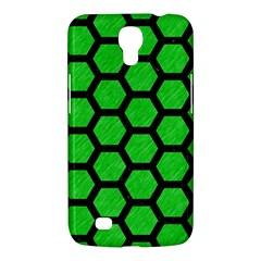 Hexagon2 Black Marble & Green Colored Pencil (r) Samsung Galaxy Mega 6 3  I9200 Hardshell Case by trendistuff