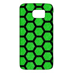 Hexagon2 Black Marble & Green Colored Pencil (r) Galaxy S6 by trendistuff