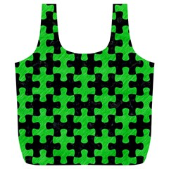 Puzzle1 Black Marble & Green Colored Pencil Full Print Recycle Bags (l)  by trendistuff