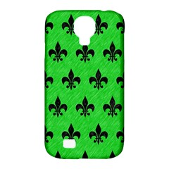 Royal1 Black Marble & Green Colored Pencil Samsung Galaxy S4 Classic Hardshell Case (pc+silicone) by trendistuff