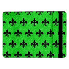 Royal1 Black Marble & Green Colored Pencil Samsung Galaxy Tab Pro 12 2  Flip Case by trendistuff