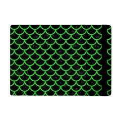 Scales1 Black Marble & Green Colored Pencil Apple Ipad Mini Flip Case by trendistuff