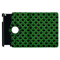 Scales2 Black Marble & Green Colored Pencil Apple Ipad 2 Flip 360 Case by trendistuff