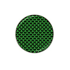 Scales3 Black Marble & Green Colored Pencil Hat Clip Ball Marker (4 Pack) by trendistuff