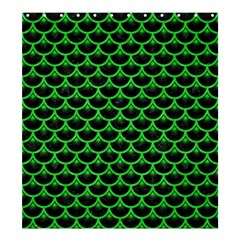 Scales3 Black Marble & Green Colored Pencil Shower Curtain 66  X 72  (large)  by trendistuff