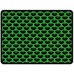 Scales3 Black Marble & Green Colored Pencil Fleece Blanket (large)  by trendistuff