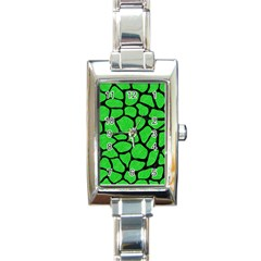 Skin1 Black Marble & Green Colored Pencil Rectangle Italian Charm Watch by trendistuff