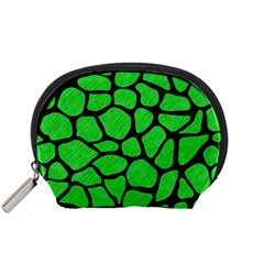 Skin1 Black Marble & Green Colored Pencil Accessory Pouches (small)  by trendistuff