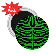 Skin2 Black Marble & Green Colored Pencil 2 25  Magnets (100 Pack)  by trendistuff