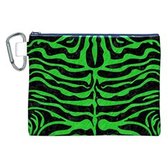 Skin2 Black Marble & Green Colored Pencil Canvas Cosmetic Bag (xxl) by trendistuff
