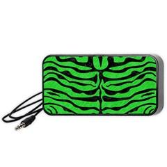 Skin2 Black Marble & Green Colored Pencil (r) Portable Speaker by trendistuff