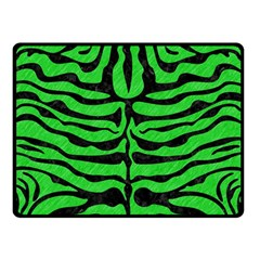 Skin2 Black Marble & Green Colored Pencil (r) Double Sided Fleece Blanket (small)  by trendistuff