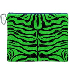 Skin2 Black Marble & Green Colored Pencil (r) Canvas Cosmetic Bag (xxxl) by trendistuff
