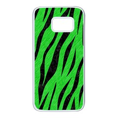 Skin3 Black Marble & Green Colored Pencil (r) Samsung Galaxy S7 White Seamless Case by trendistuff