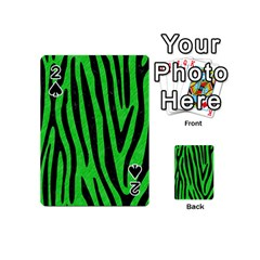 Skin4 Black Marble & Green Colored Pencil Playing Cards 54 (mini)  by trendistuff