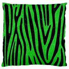 Skin4 Black Marble & Green Colored Pencil Large Flano Cushion Case (two Sides) by trendistuff