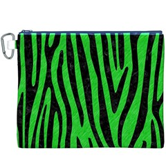 Skin4 Black Marble & Green Colored Pencil Canvas Cosmetic Bag (xxxl) by trendistuff