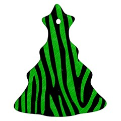 Skin4 Black Marble & Green Colored Pencil (r) Christmas Tree Ornament (two Sides) by trendistuff