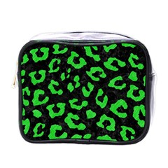 Skin5 Black Marble & Green Colored Pencil (r) Mini Toiletries Bags by trendistuff