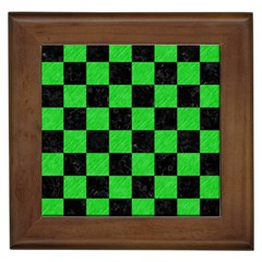 Square1 Black Marble & Green Colored Pencil Framed Tiles by trendistuff