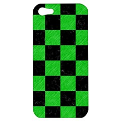 Square1 Black Marble & Green Colored Pencil Apple Iphone 5 Hardshell Case by trendistuff