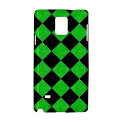 Square2 Black Marble & Green Colored Pencil Samsung Galaxy Note 4 Hardshell Case by trendistuff