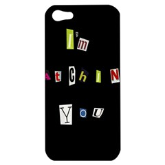 I Am Watching You Apple Iphone 5 Hardshell Case by Valentinaart