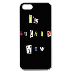 I Am Watching You Apple Seamless Iphone 5 Case (clear) by Valentinaart