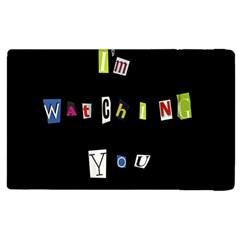 I Am Watching You Apple Ipad 3/4 Flip Case by Valentinaart
