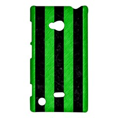 Stripes1 Black Marble & Green Colored Pencil Nokia Lumia 720 by trendistuff