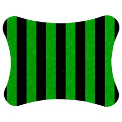 Stripes1 Black Marble & Green Colored Pencil Jigsaw Puzzle Photo Stand (bow) by trendistuff