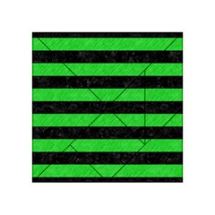 Stripes2 Black Marble & Green Colored Pencil Acrylic Tangram Puzzle (4  X 4 ) by trendistuff