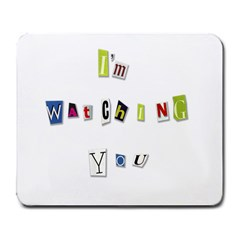 I Am Watching You Large Mousepads by Valentinaart
