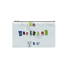 I Am Watching You Cosmetic Bag (small)  by Valentinaart