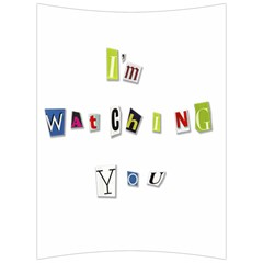I Am Watching You Back Support Cushion by Valentinaart