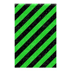Stripes3 Black Marble & Green Colored Pencil Shower Curtain 48  X 72  (small)  by trendistuff