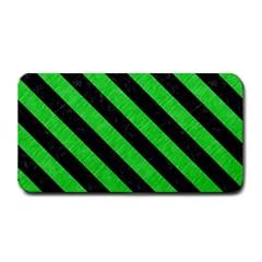Stripes3 Black Marble & Green Colored Pencil (r) Medium Bar Mats by trendistuff