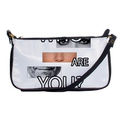 Who Are You Shoulder Clutch Bags by Valentinaart