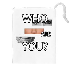 Who Are You Drawstring Pouches (xxl) by Valentinaart